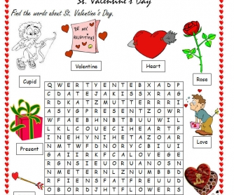 St. Valentine's Day Wordsearch