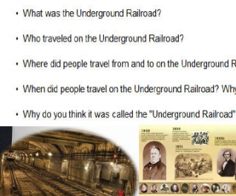 The Underground Railroad: Reading Activity