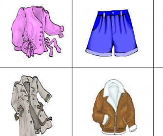 Clothes Memory Flashcards