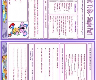 Verb To Be - Simple Past Worksheet