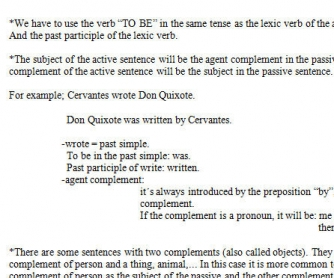 The Passive Voice: Revision Worksheet