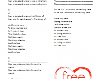 Song Worksheet: Freelove by Depeche Mode [with VIDEO]
