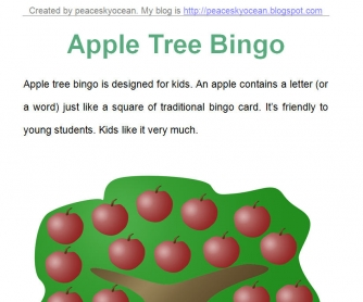 Apple Tree Letter Bingo