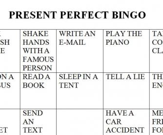 Present Perfect Bingo
