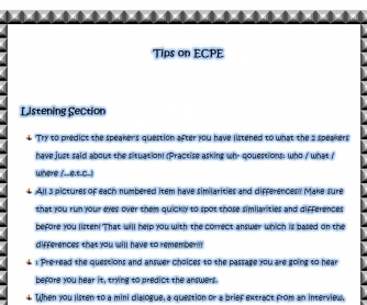 Tips on ECPE Exam