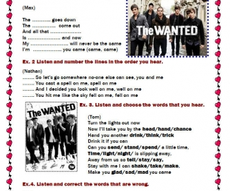 Song Worksheet: Glad You Came by The Wanted [Alternative]