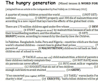 The Hungry Generation: Mixed Tenses And Word Formation