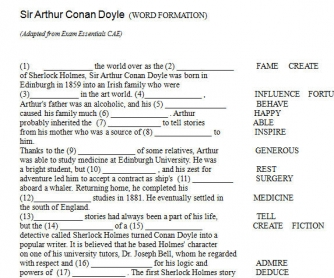 Sir Arthur Conan Doyle (Word Formation)