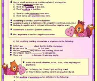 Indefinite Pronouns Elementary Worksheet II