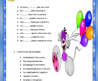 Present Simple Elementary Worksheet II