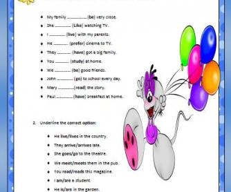 Present Simple Elementary Worksheet II