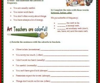 Frequency Adverbs Elementary Worksheet