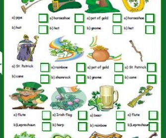 St Patrick's Day Multiple Choice Activity
