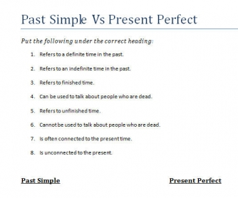 Distinguishing Between Past Simple and Present Perfect