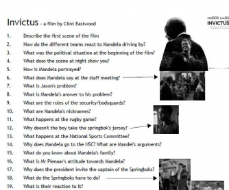 Movie Worksheet: Invictus