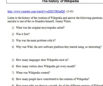 The History of Wikipedia