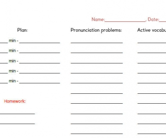 Teacher�s Feedback Form Template