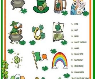 Saint Patrick's Day Matching Activity