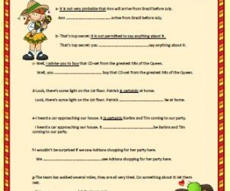 Modal Verbs Worksheet II