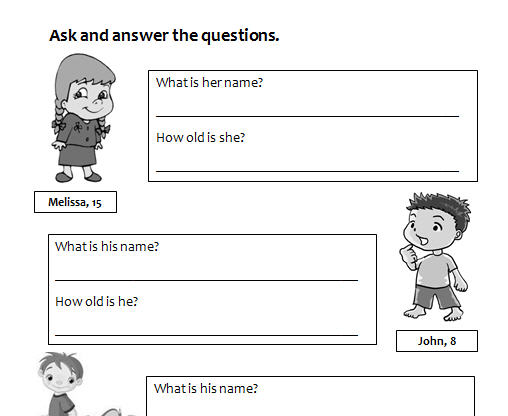 and Answer Name and Age