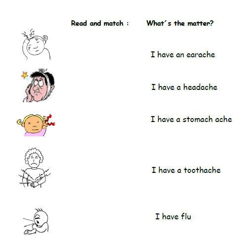 Whatu0026#39;s The Matter? Illnesses Worksheet