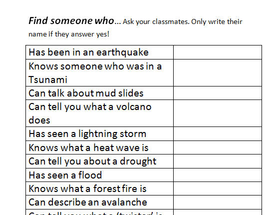 16 FREE Earthquake Worksheets and Lesson Plans – Earthquake Worksheets
