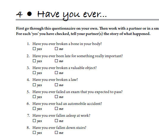 Have You Ever? Present Perfect Worksheet