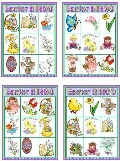 It is an image of Simplicity Printable Easter Bingo Cards