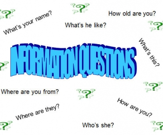 Question Words and Information Questions