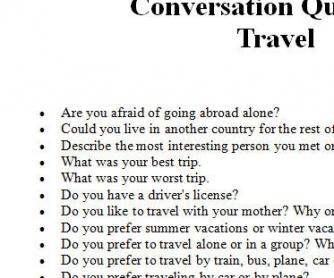 Travel Conversation Questions