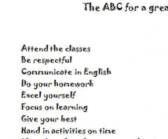 The ABC for a Great Year at School