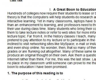 Basic Critical Reading Skills Exercises