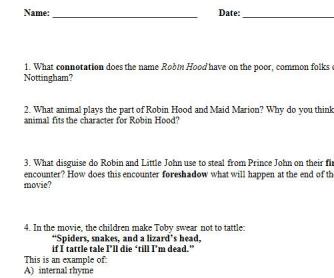 Robin Hood (Disney) Quiz