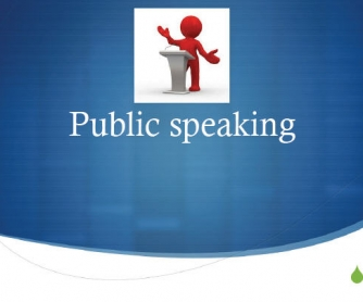 How to Make a Presentation: Public Speaking Presentation