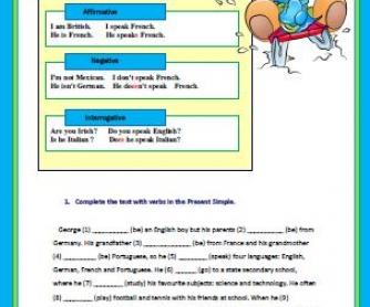 Present Simple Worksheet III