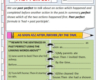 Past Perfect Worksheet