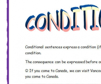 Conditionals: Type 0, 1 and 2