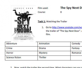 Movie Worksheet: The Spy Next Door