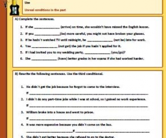 Third Conditional Worksheet