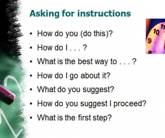 Instructions: Giving and Receiving