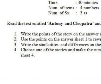 Narrative Assessment for Grade 11