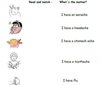 What's The Matter? Illnesses Worksheet