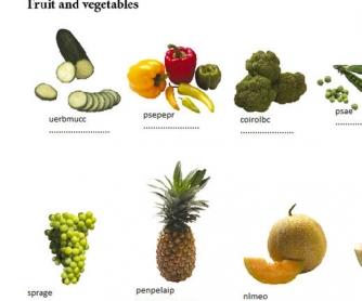 Unscramble The Fruit & Vegetables
