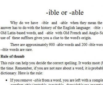 -IBLE vs -ABLE