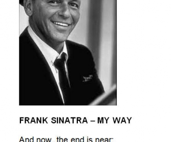 Song Worksheet: My Way by Frank Sinatra