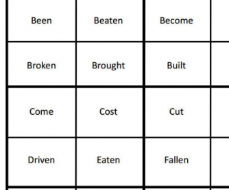 Memory Game with Past Participles
