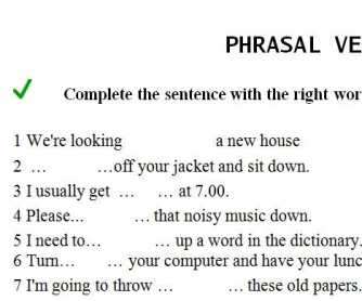 Phrasal Verbs Exercises (with answers)