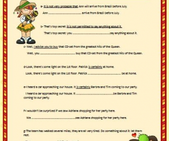 Modal Verbs Worksheet III