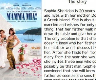 Movie Worksheet: Mamma Mia