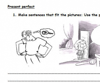 Present Perfect Worksheet For Beginners